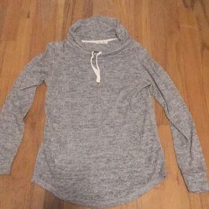 Grey ribbed sweatshirt